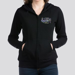 Equestrian Word Cloud Women's Zip Hoodie